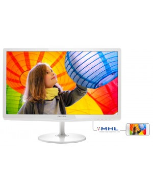 247E6QDAW - Philips - Monitor 23,6 LED/IPS Branco HDMI/ MHL/ FUll HD/ Multimídia/ DVI