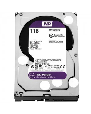 WD10PURZ - Western Digital - Disco Rígido 1TB Purple SATA 5400RPM