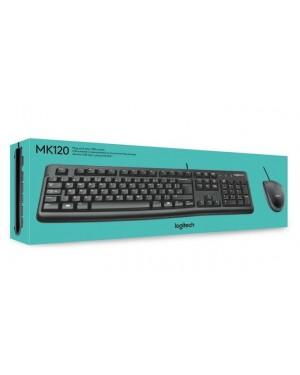 920-004429 - Logitech - Kit teclado e mouse MK120 USB preto