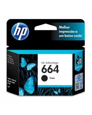 F6V29AB - HP - Cartucho de tinta 664 preto