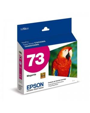 T073320-BR - Epson - Cartucho de Tinta Magenta 73n