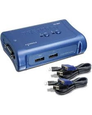 TK-207K - Outros - Chaveador KVM USB com 2 Portas e 2x Cabos KVM Inclusos TRENDnet