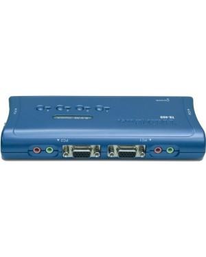 TK-409K - Outros - Chaveador KVM USB com 4 Portas com Áudio e 4x Cabos KVM Inclusos TRENDnet