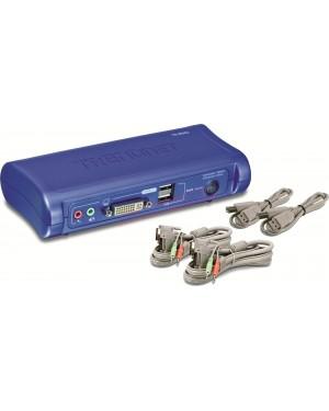 TK-407K - Outros - Chaveador KVM USB com 4Portas e 4x Cabos KVM Inclusos TRENDnet