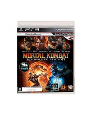WGY3879BN - Warner - Jogo Mortal Kombat Komplete Edition PS3