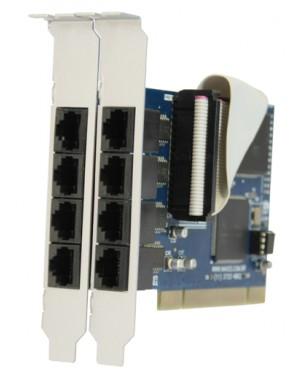 7898937710139 - Naxos - Placa de rede Multiserial 8 port RJ45