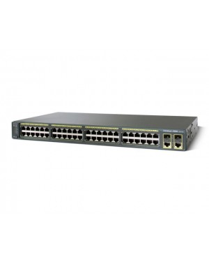 WS-C2960+48TC-L - Cisco - Switch Catalyst 2960 Plus 48 Portas