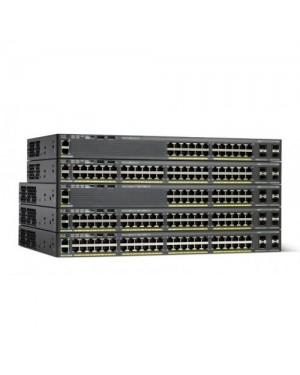 WS-C2960X-24PS-L - Cisco - Switch Catalyst 2960X 24 Gigabit PoE 370W Lan Base