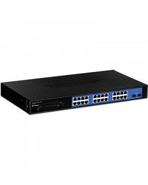 TEG-240WS - Outros - Switch Gigabit com 24x 10/100/1000 Mbps RJ45 + 2x mini-GBIC TRENDnet