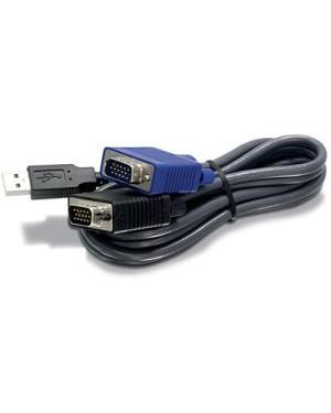 TK-CU10 - Outros - Kit Cabo 3.0m para Chaveador KVM USB para Teclado/Mouse e DV15 para Vídeo TRENDNET
