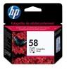 C6658AL - HP - Cartucho de tinta 58 preto ciano magenta