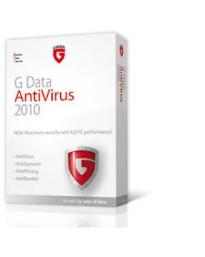 20029 - G DATA - Software/Licença AntiVirus 2010, Government, 2 Years