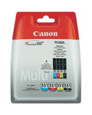 6509B008 - Canon - Cartucho de tinta CLI-551 preto ciano magenta amarelo PIXMA MG6350