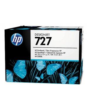 B3P06A - HP - Cabeca de impressao 727 ciano cinzento magenta preto mate foto preto amarelo Designjet T1500