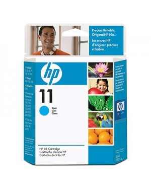 C4836A - HP - Cartucho de tinta 11 ciano Color Inkjet CP 1700 Business 1000 1100 1200 2200 2300 26