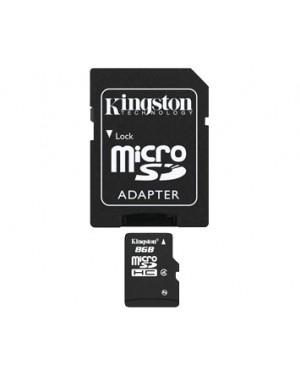 SDC4/8GB - Kingston - Cartão de Memória 8GB microSDHC Class com Adaptador SD