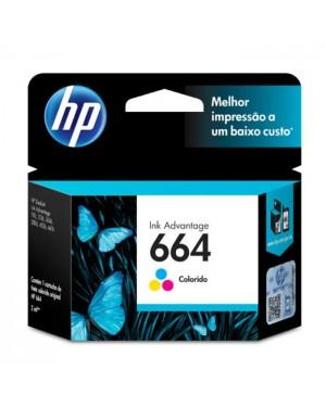 F6V28AB - HP - Cartucho de tinta 664 preto