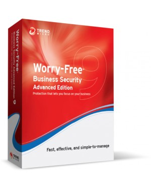 CM00872697 - Trend Micro - Software/Licença Worry-Free Business Security 9 Advanced, EDU, RNW, 29m, 51-100u