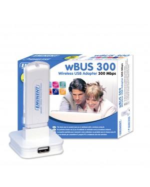 EM4555 - Eminent - Placa de rede Wireless 300 54 USB