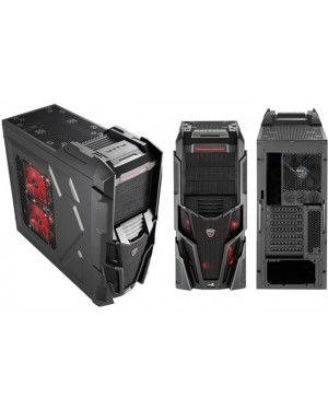 MECHATRON BLACK WINDOW - Aerocool - Gabinete Mechatron Preto Window Edition