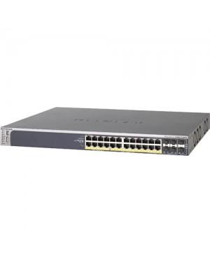 GSM7228PS-100NAS - Netgear - Switch Pro Safe 24x PoE 10/100/1000Mbps RJ45 + 4x SFP NetGear