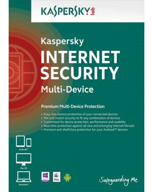 KL1941ACCDS - Kaspersky Lab - Software/Licença Internet Security Multi-Device