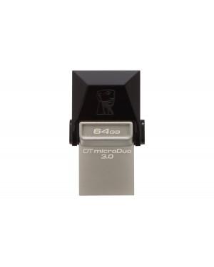 DTDUO3/64GB - Kingston - Pen Drive 64GB USB 3.0 DTDUO DATA Traveler Micro