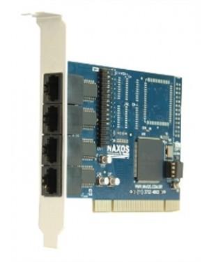 7898937710016 - Naxos - Placa de Rede PCI 4Port RJ45