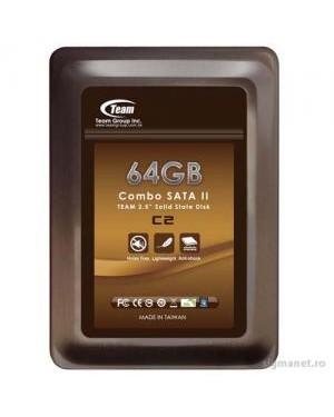 """TG064GS25AC2M - Team Group - HD Disco rígido 2.5""""Combo SSD 64GB 170MB/s"""