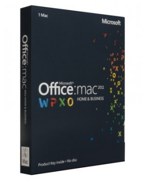 W6F-00148 - Microsoft - Software/Licença Office for Mac Home and Business 2011