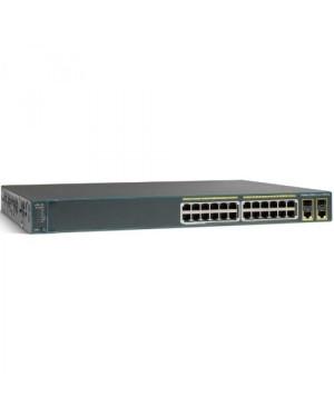 WS-C2960+24LC-S - Cisco - (PROMO FT) Catalyst 2960 Plus 24 10/100 (8 PoE) + 2 T/SFP LAN Lite