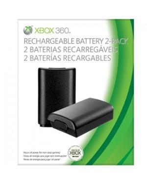B4U-00040 - Microsoft - Xbox 360 Pack com 2 Bateria Recarregáveis para Controle sem Fio